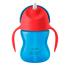 Чашка с трубочкой Philips Avent 9+, синий с красным, 210 мл (SCF796/01), 8710103781899
