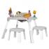 Игровой столик и 2 стульчика Oribel Portaplay Wonderland (CY303-90008-INT-R), 8886473900670