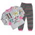 Пижама Nano Туфельки, трикотаж, р.104, светло-серый с розовым (F14P16 4)
