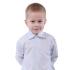 Рубашка Kat Полосочка, р.122, белый с голубым (UA1218)