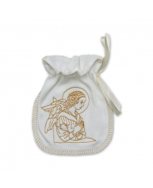 Мешочек для крещения Бетис с вышивкой молочный