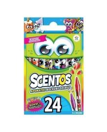Набор ароматных восковых карандашей Scentos Дружная компания 24 цвета