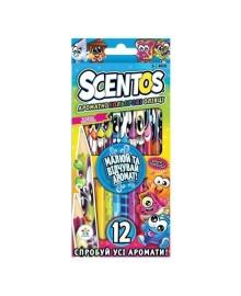 Набор ароматных карандашей Scentos Фантазия 12 цветов