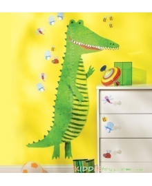 """Наклейка - ростомер """"Крокодил"""" WALLIES 13538"""