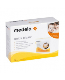 Пакеты Medela Quick Clean для паровой стерилизации в микроволновой печи, 5 шт.