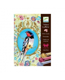 Художественный комплект для рисования блестками Птицы