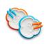 Набор тарелок со столовыми приборами, оранжевая и бирюзовая (2 шт.) Baby Bjorn 74082, 7317680740823