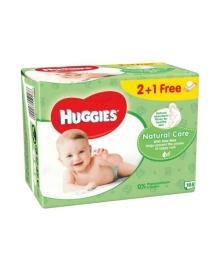 Детские влажные салфетки Huggies Natural Care Triplo, 168 шт