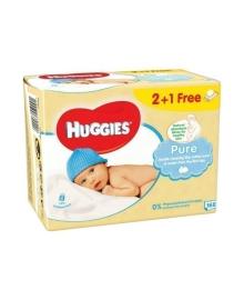 Детские влажные салфетки Huggies Pure Triplo, 168 шт