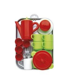 Игровой набор Ecoiffier Chef-Cook с посудой и подносом, 32 эл.