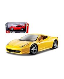 Автомодель Bburago Ferrari 458 Italia, 1:24 (в ассорт.) 18-26003, 4893993260034