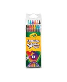 Набор карандашей Crayola Twistables с ластиком 12 шт