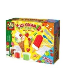 Набор незасыхающей массы для лепки SES Мороженое, 4 цвета 0444S, 8710341004446