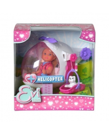 Набор Steffi & Evi Love Эви Спасательный вертолет с собачкой