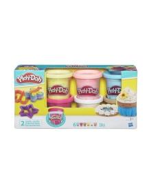 Коллекция пластилина Hasbro Play-Doh с конфетти, 6 цветов