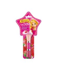 Блеск для губ Принцесса лиловый со спонжем, 5 мл