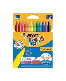 Мелки восковые BIC Kids PlastiDecor 12 цветов