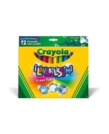 Набор фломастеров Crayola Ultra clean washable Широкая линия 12 шт