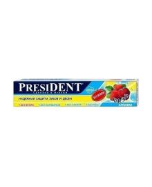 Детская зубная паста President Kids Клубника, 50 мл