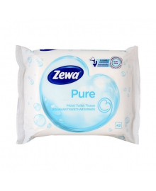 Влажная туалетная бумага Zewa Pure 42 шт