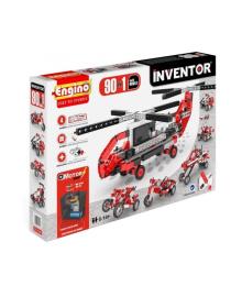 Конструктор Engino Inventor Motorized 90 в 1 с электродвигателем, 1017 деталей 9030, 5290001135688