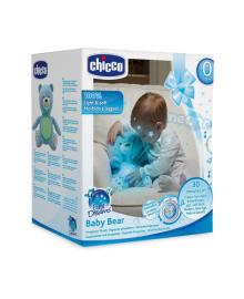 Плюшевый музыкальный мишка Chicco, голубой