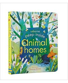 Детская книга с окошками  Peep Inside Animal Homes (9781409550181)