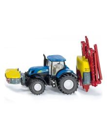 Игровой набор Siku Трактор New Holland с опрыскивателем, 1:87