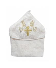 Крыжма Крестильная махровая Крестик золотой 3504