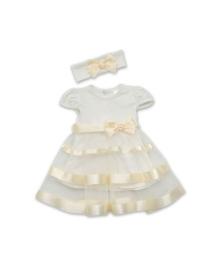 Платье и повязка Бетис Маленькая леди молочного цвета