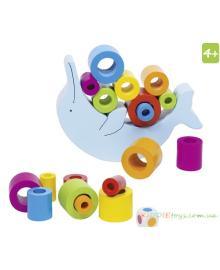 Детский балансир Goki Дельфин (56901), 4013594569019