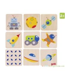 Детская игра мемори Goki Космос (56675)