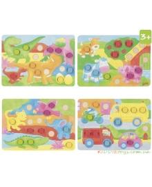 Детская игра-лото Goki Разноцветный Мир (56813), 4013594568135
