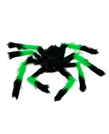 Паук малый мех (черно-зеленый) 081017-008