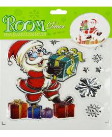 Наклейка Санта Клаус с с подарками 151118-082