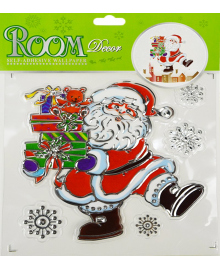 Наклейка Дед Мороз с с подарками 151118-083