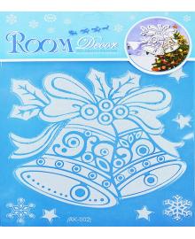 Наклейка Колокольчик с снежинками 151118-093