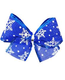 Бант синий с Снежинками 151118-102