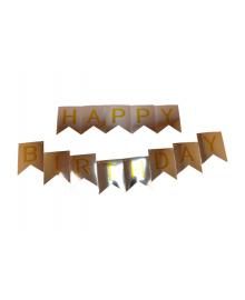 Гирлянда флаги Happy Birthday (серебряная) 150618-003