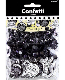 Конфетти HB (черно-белые) 34 1501-4194