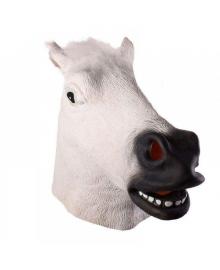 Маска Лошади белая (резина) 180818-003 Tronzo