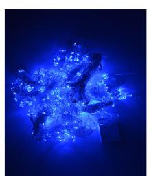 Гирлянда штора 3х2,7м (синяя) 161118-019