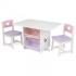 Детский стол с ящиками и двумя стульями KidKraft Heart Table & Chair Set, розовый (26913)
