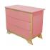 Комод с пеленальным столиком Indigo Wood Nova розовый/натуральное дерево 32893