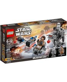 Конструктор LEGO Star Wars Микроистребитель летающий мотоцикл против Ходуна Первого Ордена (75195)