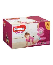 Подгузники-трусики Huggies Pants Box для девочек Размер 4 (9-14 кг), 72 шт