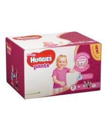 Подгузники-трусики Huggies Pants Box для девочек Размер 5 (12-17 кг), 68 шт