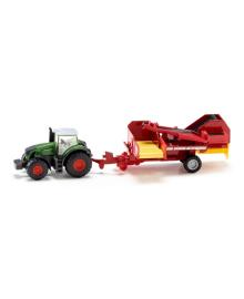Трактор Siku с картофелеуборочным комбайном 1:87