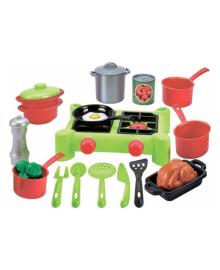 Игровой набор Ecoiffier Плита и посуда, 21 эл.