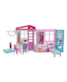 Домик для кукол Barbie с надувным бассейном  FXG54